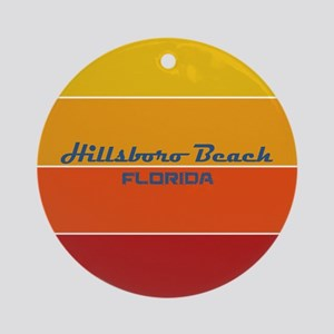 Florida - Hillsboro Beach Round Ornament
