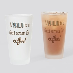 Silent Scream for Coffee Drinking Glass