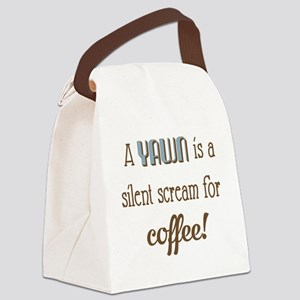 Silent Scream for Coffee Canvas Lunch Bag