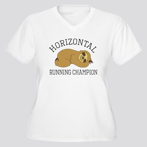 Horizontal Running Champion - Sl Plus Size T-Shirt
