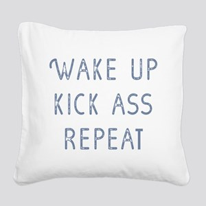 Wake Up Square Canvas Pillow