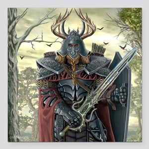 "viking warrior Square Car Magnet 3"" x 3"""