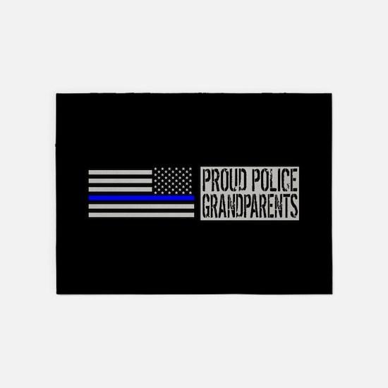 Police: Proud Grandparents (Black F 5'x7'Area Rug