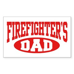 Firefighter's Dad Rectangle Decal