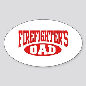 Firefighter's Dad Oval Sticker
