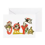 Cartoon kitten cats Christmas Greeting Cards (Pk o