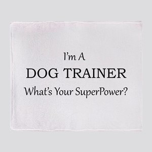 Dog Trainer Throw Blanket