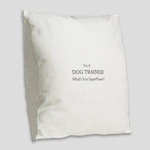 Dog Trainer Burlap Throw Pillow