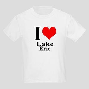 I heart Lake Erie Kids Light T-Shirt