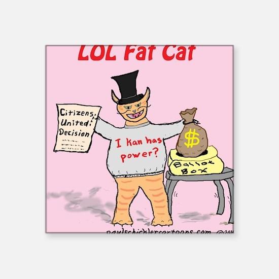 LOL Fat Cat Sticker