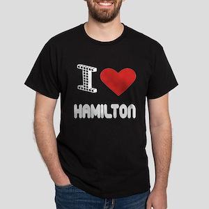 I Love Hamilton City Dark T-Shirt