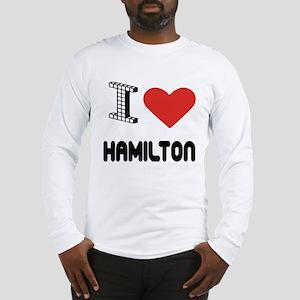 I Love Hamilton City Long Sleeve T-Shirt