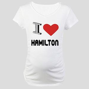 I Love Hamilton City Maternity T-Shirt