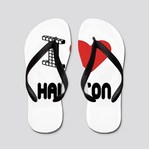 I Love Hamilton City Flip Flops