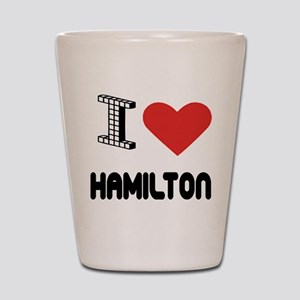 I Love Hamilton City Shot Glass