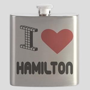 I Love Hamilton City Flask