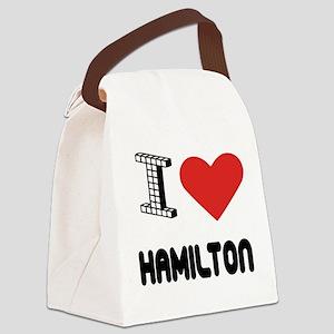 I Love Hamilton City Canvas Lunch Bag