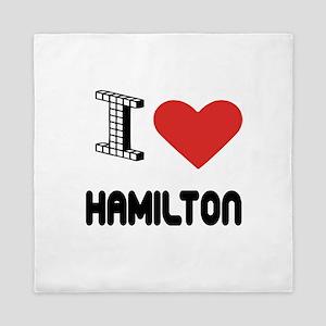 I Love Hamilton City Queen Duvet