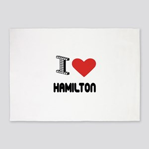 I Love Hamilton City 5'x7'Area Rug