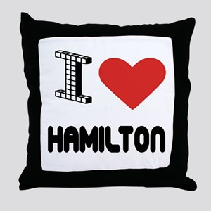 I Love Hamilton City Throw Pillow