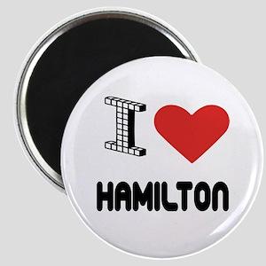 I Love Hamilton City Magnet