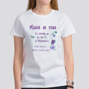 Up to the Z in Alzheimers Women's T-Shirt