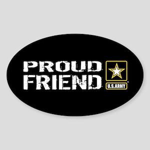 U.S. Army: Proud Friend (Black) Sticker (Oval)