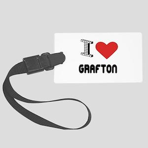 I Love Grafton City Large Luggage Tag