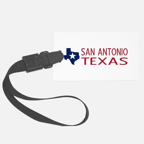 Texas: San Antonio (State Shape Luggage Tag