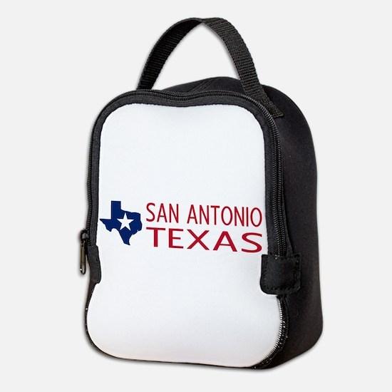 Texas: San Antonio (State Shape Neoprene Lunch Bag