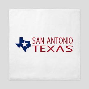 Texas: San Antonio (State Shape & Star Queen Duvet