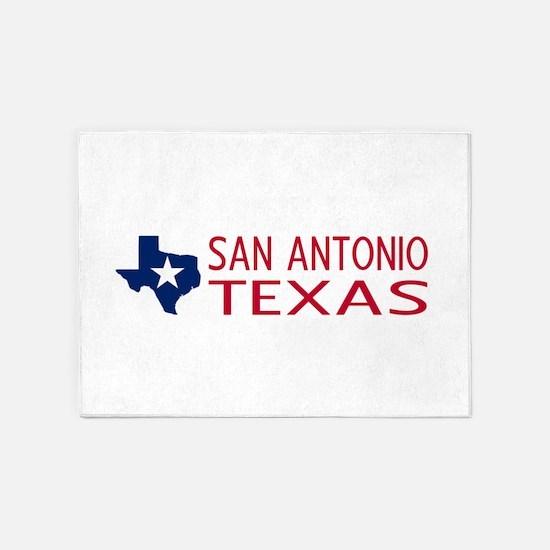Texas: San Antonio (State Shape & S 5'x7'Area Rug