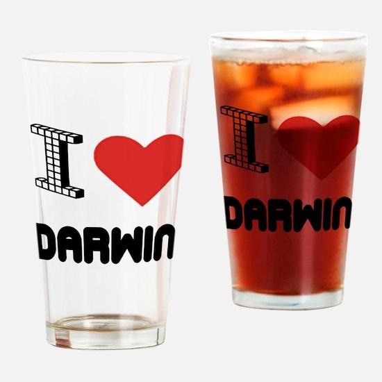 I Love Darwin City Drinking Glass