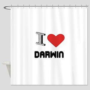 I Love Darwin City Shower Curtain