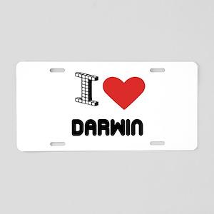 I Love Darwin City Aluminum License Plate