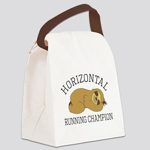 Horizontal Running Champion - Slo Canvas Lunch Bag
