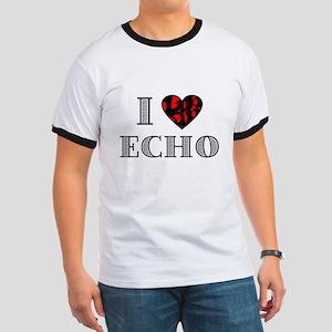 I Lubdub Echo Red Ringer T