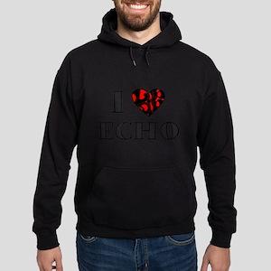 I Lubdub Echo Red Hoodie (dark)