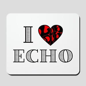 I Lubdub Echo Red Mousepad