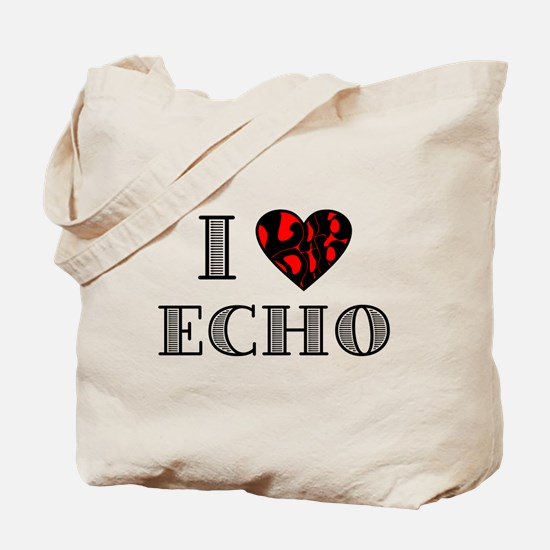 I Lubdub Echo Red Tote Bag
