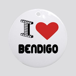 I Love Bendigo City Round Ornament