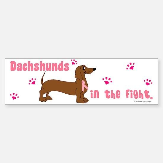 Dachshunds In The Fight (BC) Bumper Bumper Bumper Sticker