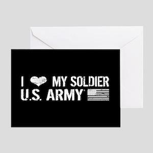 U.S. Army: I Love My Soldier (Black) Greeting Card