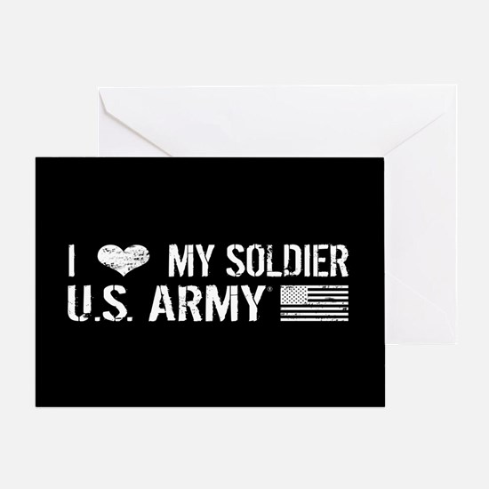 U.S. Army: I Love My Soldier (Black) Greeting Card