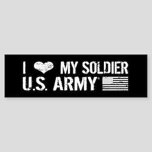 U.S. Army: I Love My Soldier (Black) Bumper Sticke