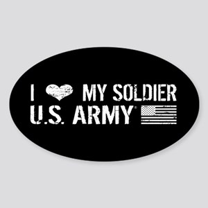 U.S. Army: I Love My Soldier (Black) Sticker