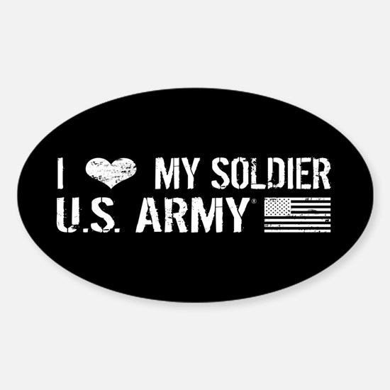 U.S. Army: I Love My Soldier (Black) Decal