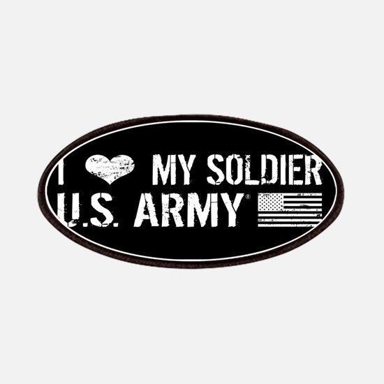 U.S. Army: I Love My Soldier (Black) Patch