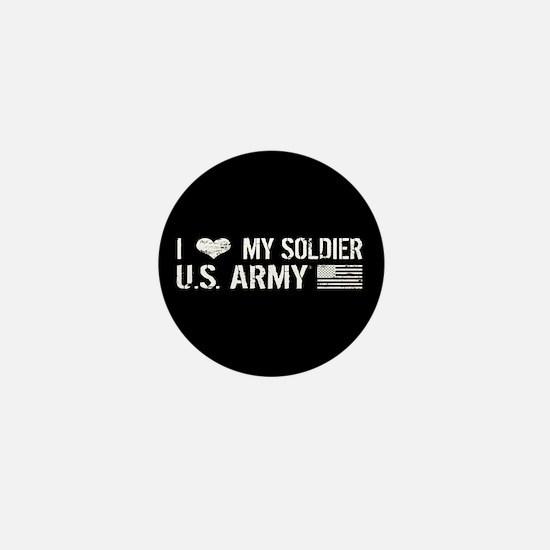 U.S. Army: I Love My Soldier (Black) Mini Button