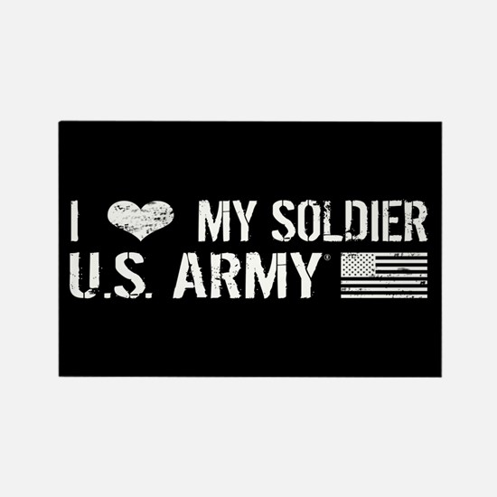 U.S. Army: I Love My Soldier (Black) Magnets